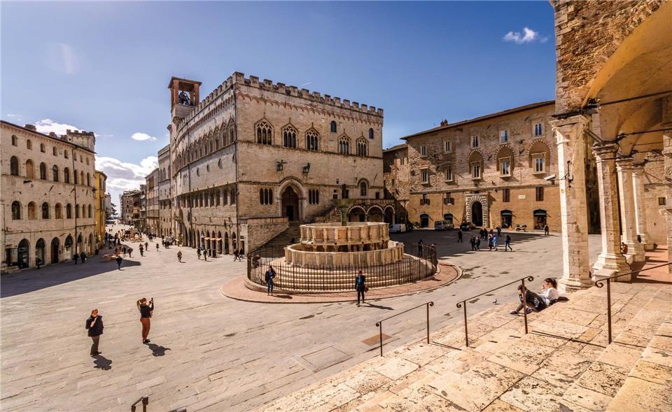 Italien Piazza IV Novembre in Perugia