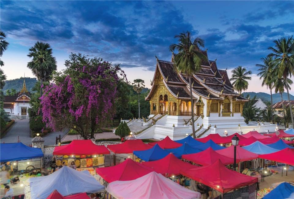 Asien Laos Nachtmarkt in Luang Prabang