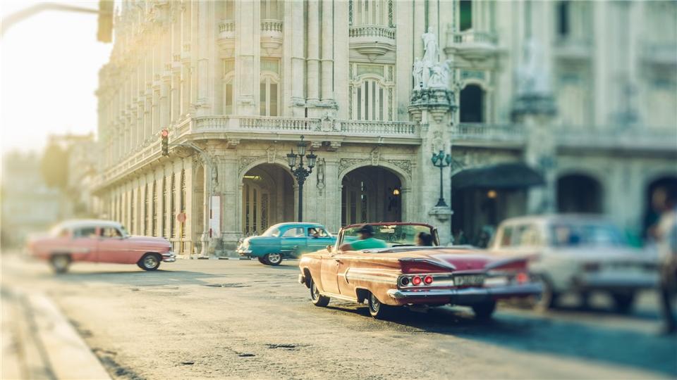 Kuba - Oldtimer auf den Strassen Havannas