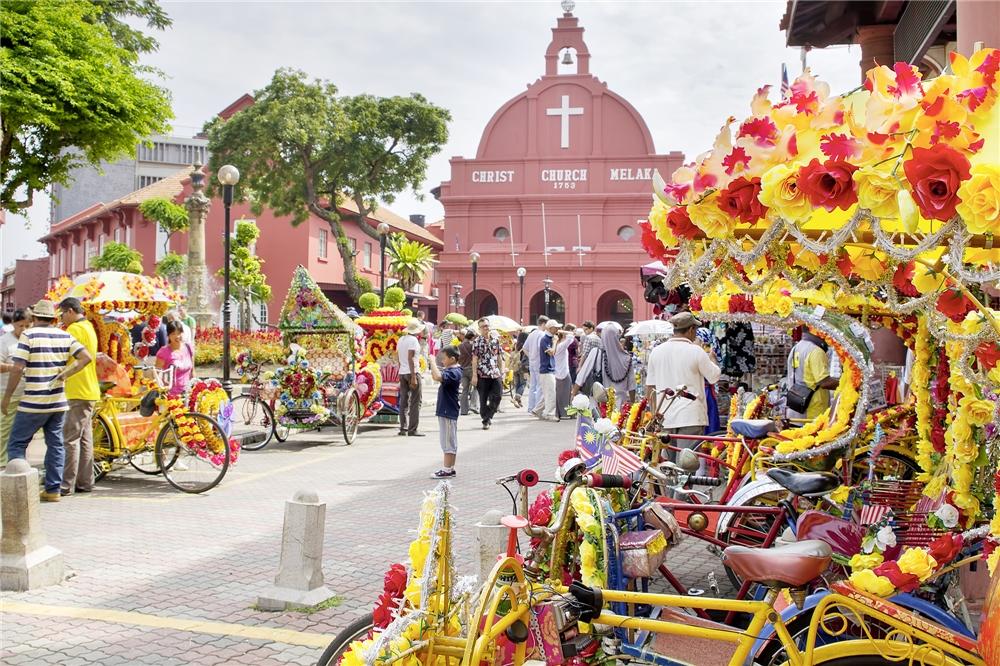 Malaysia - Standansicht von Melaka